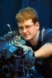 Mecánico del motor del aprendiz Foto de archivo libre de regalías