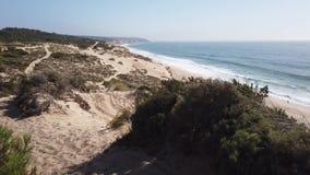 Meco海滩在葡萄牙 股票录像