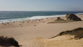 Meco海滩在葡萄牙 股票视频