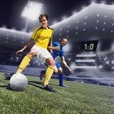 Mecz futbolowy Fotografia Royalty Free