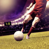 Mecz futbolowy Zdjęcia Royalty Free