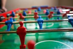 mecz futbolowy isolate graczów stół dwa Zdjęcie Stock