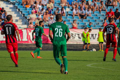 mecz futbolowy piłka nożna Moldovan pro liga footballowa zdjęcie stock
