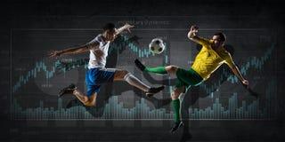Mecz futbolowy statystyki Mieszani środki Mieszani środki Zdjęcia Royalty Free