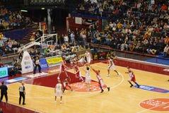 mecz koszykówki Zdjęcia Royalty Free