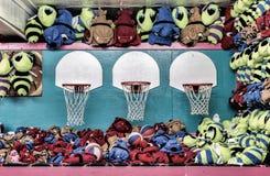 Mecz Koszykówki szansa przy Boardwalk Zdjęcia Royalty Free