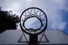 Mecz koszykówki w kwadracie zdjęcie stock