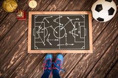 Mecz piłkarski strategia Fotografia Stock