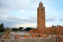 Meczet Koutoubia, Marrakech, Maroko Zdjęcia Stock