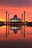 meczet nad zmierzchem Obraz Stock