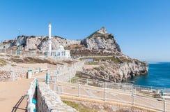 Meczet przy Europa punktem na Gibraltar Zdjęcia Stock