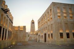 Meczet przy półmrokiem fotografia stock