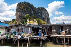 Meczet przy Panyee wioską, Phang nga zatoka Zdjęcie Royalty Free