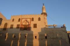 Meczet wśród Luxor świątyni, Egipt Zdjęcie Royalty Free