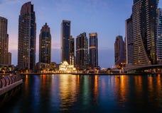 Meczet w Dubaj Marina Obraz Stock