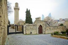 Meczet w pałac Shirvanshahs w Baku Azerbejdżan Shirvanshahs pałac Icheri sheher Stary miasteczko Baku obrazy royalty free