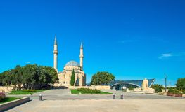Meczet w wyżu parku Obraz Royalty Free