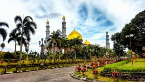 Meczet złota kopuła Fotografia Royalty Free