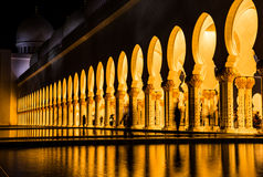Meczet, Zjednoczone Emiraty Arabskie Fotografia Stock
