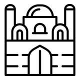 Meczetowa ikona, konturu styl royalty ilustracja
