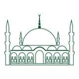 Meczetowa ikona Meczetowy wektor Zdjęcia Royalty Free