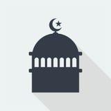 meczetowej islamskiej muzułmańskiej reliefowej sztuki płaski projekt, seo sieci projekta budynek Zdjęcie Stock