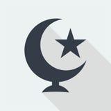 meczetowej islamskiej muzułmańskiej reliefowej sztuki płaski projekt, seo sieci projekta budynek Obraz Stock