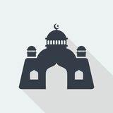 meczetowej islamskiej muzułmańskiej reliefowej sztuki płaski projekt, seo sieci projekta budynek Fotografia Stock
