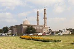 Meczetowy Al Emam Ahmad kosz Hanbal ashkhabad główny plaza Sharjah UAE Fotografia Royalty Free