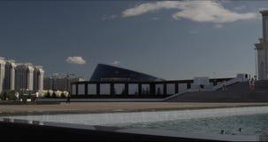 Meczetowy horisontal panorame w Astana Kazachstan zbiory