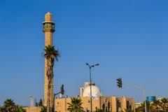 Meczetowy minaret w Tel Aviv Zdjęcia Royalty Free