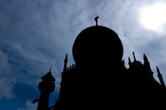 meczetowy sylwetki Singapore sułtan Zdjęcia Stock
