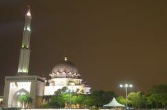Meczetu krajobraz przy nocą Obrazy Royalty Free