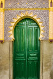 Meczetu zielony drzwi, Tanger, Maroko Zdjęcie Royalty Free