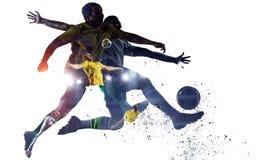 Meczu piłkarskiego tło Mieszani środki fotografia stock