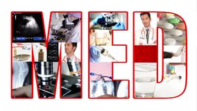 Med collage stock footage