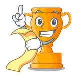 Med den guld- trofén för menymästare på tecknad filmtabellen vektor illustrationer