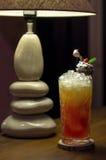 Med is drink med grapefrukten Royaltyfri Bild