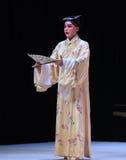 """Med en fan av den västra Chamber†för forskare-nischZhang Junrui-Kunqu Opera """"the en Royaltyfri Bild"""