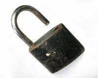 Med ett låst upp lås arkivbild