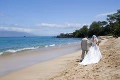 Med exotique de mariage de plage. au loin Photo stock