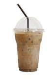 Med is kaffe royaltyfria bilder