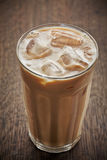 Med is kaffe med mjölkar Royaltyfria Foton