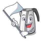 Med kokkärlet för elkraft för kök för hushåll för flaggamaskottecknad film royaltyfri illustrationer