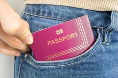 Med mitt pass i mitt fack Royaltyfri Fotografi