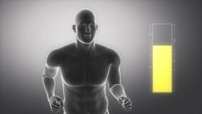 Med sporten till den helthy livsstilen - fetmabegrepp royaltyfri illustrationer