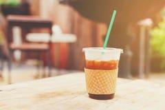 Med is svart kaffe Arkivfoto