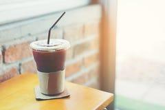 Med is svart kaffe Royaltyfri Fotografi