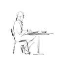med- tabell Vektor Illustrationer