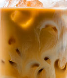 Med is te med mjölkar Royaltyfri Bild